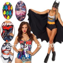 Wholesale Black Milk Bikini - Wholesale-Batman swimwear fashion sexy swimsuit black milk bikini bodysuit