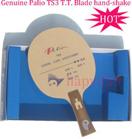 Wholesale Shaking Table - free ship Genuine table tennis blade Palio TS3 quick attack looping style Ti+Carbon hand-shake table tennis racquet