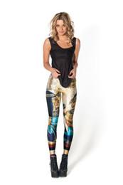calças de poliéster brilhantes Desconto Atacado-frete grátis novo 2015 mulheres legging egípcia deusa leggings punk leggings para mulheres roupas de fitness das mulheres