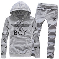 Wholesale Boys Tracksuit Zipper - Wholesale-Wholesale 2015 Mens Fashion Brand Hoodies For Boy Long Sleeve Pullovers Young Man Hip Hop Hoody Men Sportswear Tracksuit