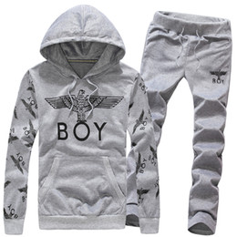 Wholesale Sportswear For Boys - Wholesale-Wholesale 2015 Mens Fashion Brand Hoodies For Boy Long Sleeve Pullovers Young Man Hip Hop Hoody Men Sportswear Tracksuit