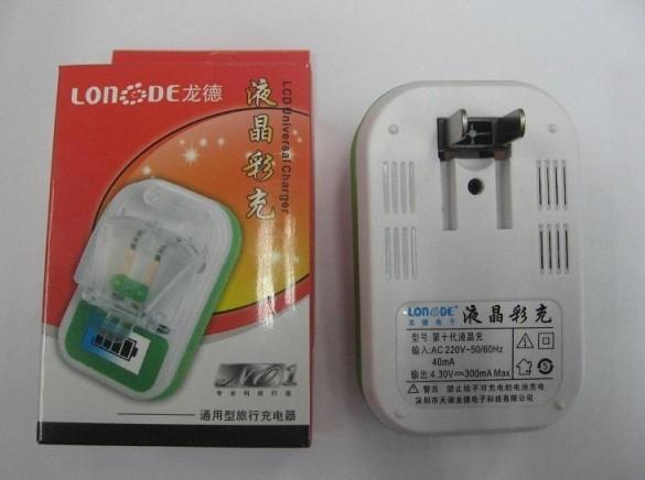 20 stks LCD Universal Power Charger, met duidelijk LCD-scherm
