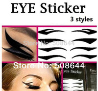 Wholesale Wholesale Eyeshadow Transfer - Wholesale-Eye liner Sticker Shadow Smoky Eyes black eyeliner 4 pairs pack 16 Styles Temporary Instant Transfer Eyeshadow Eyeliner Sticker