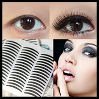 Wholesale Eye Liner Stickers - Wholesale-1500pcs Black Stripe Eyeliner Stickers Double Eyelid Tatto Eye Liner Paper Styling Tools Makeup Tool Freeshipping