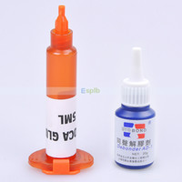 Wholesale Optical Adhesive Remover - Wholesale-Mini 5ML LOCA Liquid Optical Clear Adhesive UV Glue +20g Glue Remover For Repair LCD Touch Screen