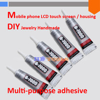 Wholesale Mobile Beauty Tools - Wholesale-10pcs lot 15ml B-7000 DIY Tool Multipurpose glue point Diamond Mobile phone Beauty LCD Frame Stand repair B7000 adhesive 110ml
