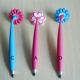 Wholesale Cute Design Pen - Wholesale-2pcs lot Magnetic Fridge Pens soft PVC Ballpoint Pen Cute Cartoon Pens Novelty Design Fanny toy Pen for Kids as Children's