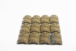 Wholesale Cover For Quad - Wholesale-12pcs Tactical Hunting Weaver  Picatinny Rubber Handguard Quad Rail Protect Covers for Airsoft Tan Free Shipping
