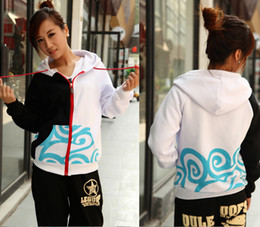 Wholesale Cosplay Gintama Free Shipping - Wholesale-Free Shipping! Anime Gintama Silver Soul Sakata Gintoki Cosplay Thin Sweater Hoodie Outerwears Coat For Autumn