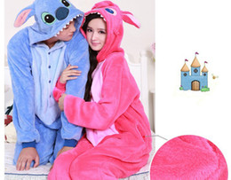 Costume Costume Adultes Pas Cher-Gros-2015 Japan Anime animal bleu / rose de point Costume Onesie Adulte Unisexe Cos Cosplay Pyjamas Pyjamas All In One Party Jumpsuit