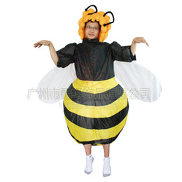 Costumes En Gros Pour Noël Pour Adultes Pas Cher-Adulte-Wholesale Bee gonflable Costume pour Halloween Party de Noël de Noël drôle