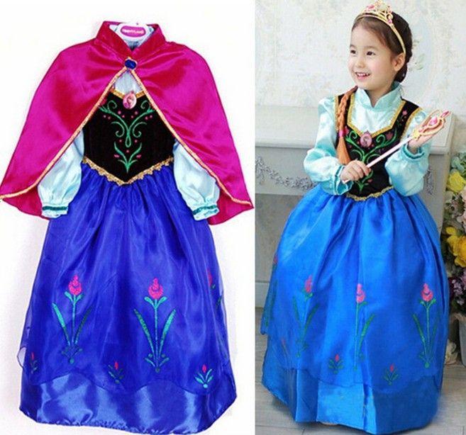 best wholesale halloween costume for kids fantasia dress princess anna costume girls party dressvestidos infantis vestidos de menina under 2534 dhgate - Halloween Anna Costume