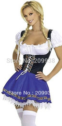 Wholesale Maid Costumes Free Shipping - Wholesale-New arrive!!Free shipping dark blue French Maid cosutmes,women sexy uniform XY8819
