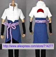Wholesale Cape Cheap Costume - Wholesale-Free shipping Custom Cheap Sasuke Cosplay Costume (4th) from Naruto Shippuuden Christmas