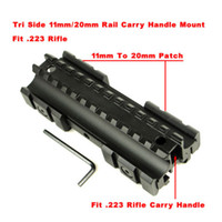 Wholesale-Triple-Side Flat Top 11mm / 20mm Weaver / Picatinny Schiene Tragegriff Berg Fit 0,223 Rifles