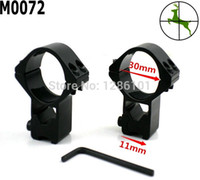 Gros-1 paire (2pcs) / M0072 Ring 30mm lot Low Scope Flashlight QD Mount for 11mm Weaver Rail Picatinny