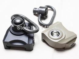Wholesale qd swivel mount - Wholesale-KAC style QD Quick release push stud sling swivel mount fit 20mm ris ras rail BK DE-Free shipping