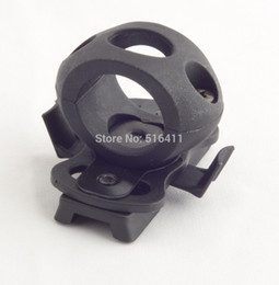 "Wholesale Guide Rails - Wholesale-Tactical 1.2"" Single Clamp Folder Fast Helmet Guide Rail Flashlight Clamp Black Free Shipping"