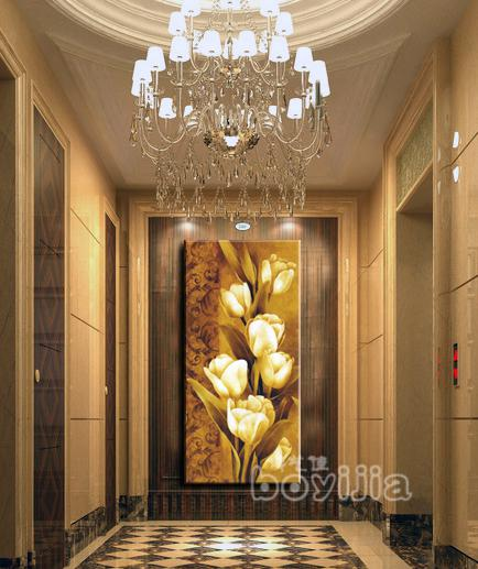 2018 Wholesale Handmade Oil Painting On Canvas Wall Art Hallway Paintings For Vertical Home Decor Abstract Flowers Hang Group Pictures From Scot