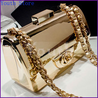 Wholesale Handbags Shoulder White Black - Wholesale-Designer Gold-plated Acrylic Handbags Famous Brand Evening Bags Fashion Brick Vintage C*C Logo Clutch Shoulder Bag - DY3310