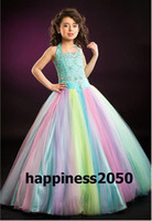 Lovely Rainbow Flower Girls' Dresses Girls' Pageant Dress Bi...