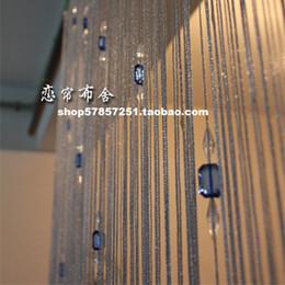 2019 decoração entrada casa Atacado-Upscale contas brilhantes fio de cristal talão cortina de fio cortina da porta da cortina de entrada decoração de casa 1 * 2.8 m decoração entrada casa barato