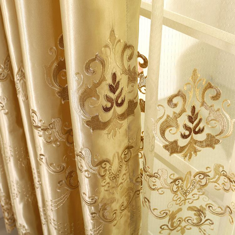 wholesale new custom curtains living room curtain upscale townhouse villa cozy bedroom curtains with soluble embroidery from