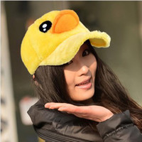 Wholesale Winter Style Baseball Hats - Wholesale-HOT Style Autumn Winter Big Yellow Duck Hat For Women Cute Baseball Cap
