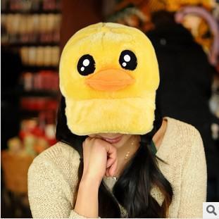 Großhandels-HEISSE Art-Herbst-Winter-große gelbe Enten-Hut für Frauen-nette Baseballmütze