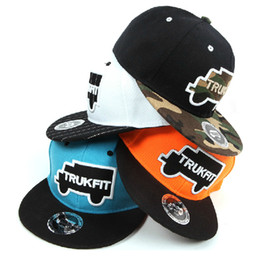 Wholesale New Trukfit Caps - Wholesale-New Arrival Fashion Snapbacks Unisex Truck TRUKFIT Letters Embroidery Skateboard Baseball Caps Hip-hop hats For Men Women
