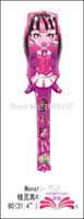 Wholesale Inflatable Balloon Stick Clappers - Wholesale-New arrive wholesales Monster high cheering stick balloon clappers inflatable noise maker