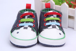 Wholesale Canvas Frog Baby Shoes - Wholesale- Cartoon Frog Baby Shoes Newborn Baby Prewalker Girls Shoes WX075