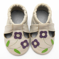 Wholesale Cow Baby Shoes - Wholesale-New Brand Baby Moccasins Fretwork Brown Flower Toddler Infant Footwear Soft Sole Cow Leather Baby Boy Shoes Girl Free Shipping