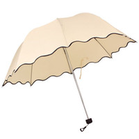 Wholesale-Fashion Womens Flouncing Princess Dome Winken Parasol Sun / Regen Folding Umbrella