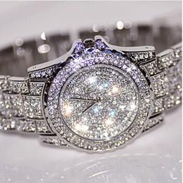 Wholesale Dropship Dresses - Wholesale-New High Quality Women dress Watches Fashion Women Rhinestone Watch Lady Luxury brand Wristwatches Relojes Watch Dropship