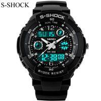Wholesale Men S Watches Alarm - Wholesale-New G Style Quartz Analog Digital Watch Men Women Dual Time Sports Watches Luxury S Shock Military Army 50m Waterproof Reloj