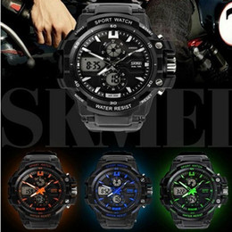 Wholesale Mechanical Alarm - Wholesale-Original S Shock Relojes Hombre Skmei Analog Digital Water Proof Watches Military Relogio Masculino G Style S Shock