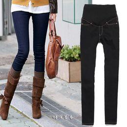 Wholesale Colored Leggings For Women - Wholesale-Factory Direct Sale 2015 Autumn Fashion Maternity Jeans for Pregnant Women Boot Pants Leggings Korean Denim Trousers Free Shippi