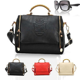 Discount british leather messenger bags - Wholesale-2015 fasion British women retro bag European and American tote soft pu leather vintage Shoulder Messenger hand