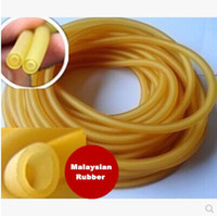 Wholesale Elastic Stretch Bows - Wholesale-Malaysian Rubber 5 M Natural Latex Tubing Rubber Band 3x5mm Resilient Tube For Slingshot Catapult Stretch Elastic Part 3050
