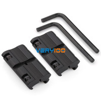 "Wholesale 11mm mounts - Wholesale-2pcs Picatinny W 3 8"" 11mm Dovetail to 7 8"" 20mm Weaver Rail Adapter Scope Mount FREE Shipping"