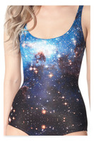 Wholesale Digital Print Swimsuit - Wholesale-HOT 2015 Cover-ups Tankinis Set Black Milk Galaxy Blue Swimsuit - Limited One Piece Digital Print Bathing Suit Swimwear Women