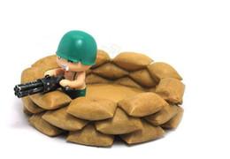 Wholesale Post Gun - China Post Air ! Novelty Ashtray Soldiers Sortie Earthbags Machine Gun Ashtray Cool Gift