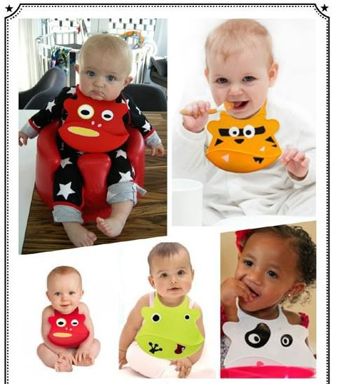Wholesale-drop shipping baby silicon bib baby lovely bibs Waterproof Bib / slobber pocket-factory price