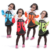 Wholesale Ladybug Kids Kitchen - Wholesale-2015 Hot Sale New Cute Ladybug Kids Children Kitchen Garden Fabric Craft Apron Lovely Child Pinafore Wholesale