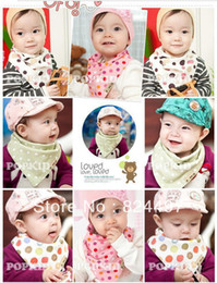 Wholesale Organic Cotton Baby Sling - Wholesale-Hot 2015 Organic cotton sling baby bib   triangle bib   buckle baby bibs Free Shipping M0209