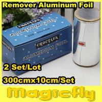 Wholesale Nail Salon Workers - Wholesale-[LLJXZ-002]2 Set Lot 300cmx10cm Aluminum Foil Paper For Nail Remover   UV Gel Wraps Remove Salon Workers Tin Foil+Free Shipping