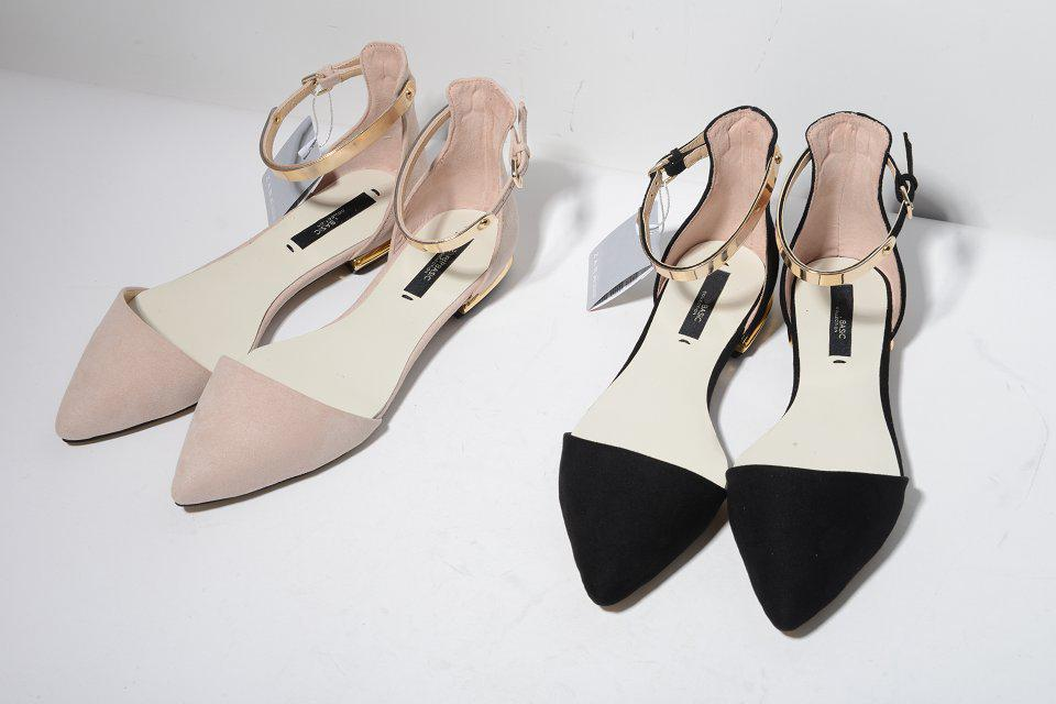 Wholesale Spring Summer New Pointed Toes Womans Fashion Sandals Nude Pink Black Gold -6150