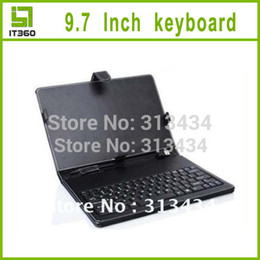 Wholesale Sanei Case Inch - Wholesale-USB Leather keyboard case for 9.7 Inch Tablet PC Android MID Flytouch Onda Ainol Cube Sanei