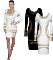 Wholesale- 2015 New Fashion Bandage Dress Women Celebrity Aut...